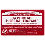 Dr. Bronner's All-One Hemp Pure-Castile Bar Soap, Rose