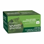 Seventh Generation Drawstring Tall Kitchen Bags, 13 Gallon 2-ply