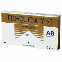 Frequency 55 Aspheric Contact Lens- 6 lenses per Box