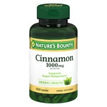 Nature's Bounty Cinnamon, 1000mg Per Serving, Capsules