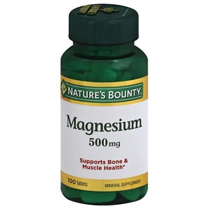 Nature's Bounty High Potency Magnesium 500mg, Tablets- 100 ea