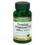 Nature's Bounty Evening Primrose Oil 1000mg, Softgels- 60 ea