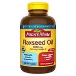Nature Made Flaxseed Oil, 1000mg, Softgels- 180 ea