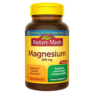 Nature Made Magnesium, 250mg, Tablets, 200 ea