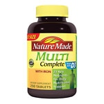 Nature Made Multi Complete with Iron, Tablets- 250 ea