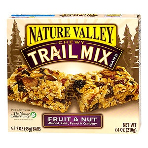 Nature Valley Chewy Trail Mix Bars, Fruit and Nut, 6 ea
