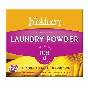 biokleen Premium Plus All Temperature Laundry Powder with Enzymes- 80 oz
