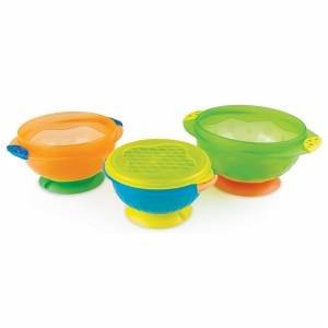 Munchkin Stay-Put Suction Bowls, 3 ea