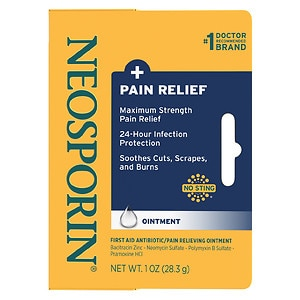 Neosporin Plus Pain Relief, Maximum Strength First Aid Antibiotic/Pain Relieving Ointment