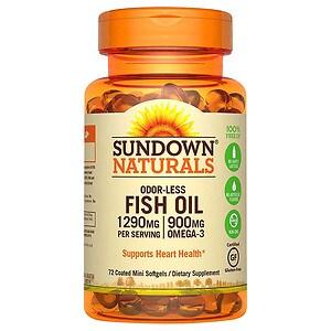 Sundown Naturals Fish Oil Omega   Mg