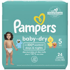 Pampers Baby Dry Diapers Size 5 Jumbo Pack Drugstore Com