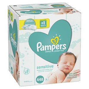 Pampers Sensitive Wipes Refill Packs 7 Pk Drugstore Com